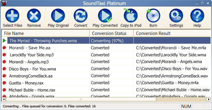 Click to view SoundTaxi 4.1.4 screenshot
